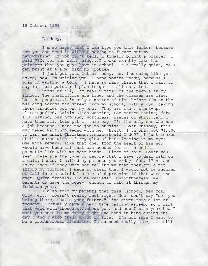 October 1998 Letter