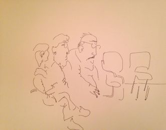 Husband, Son, Son; 2017, Ink on Paper