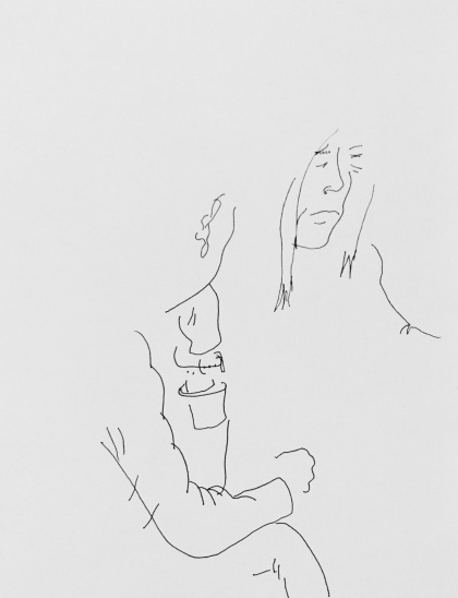 Wife, Husband; 2017, Ink on Paper