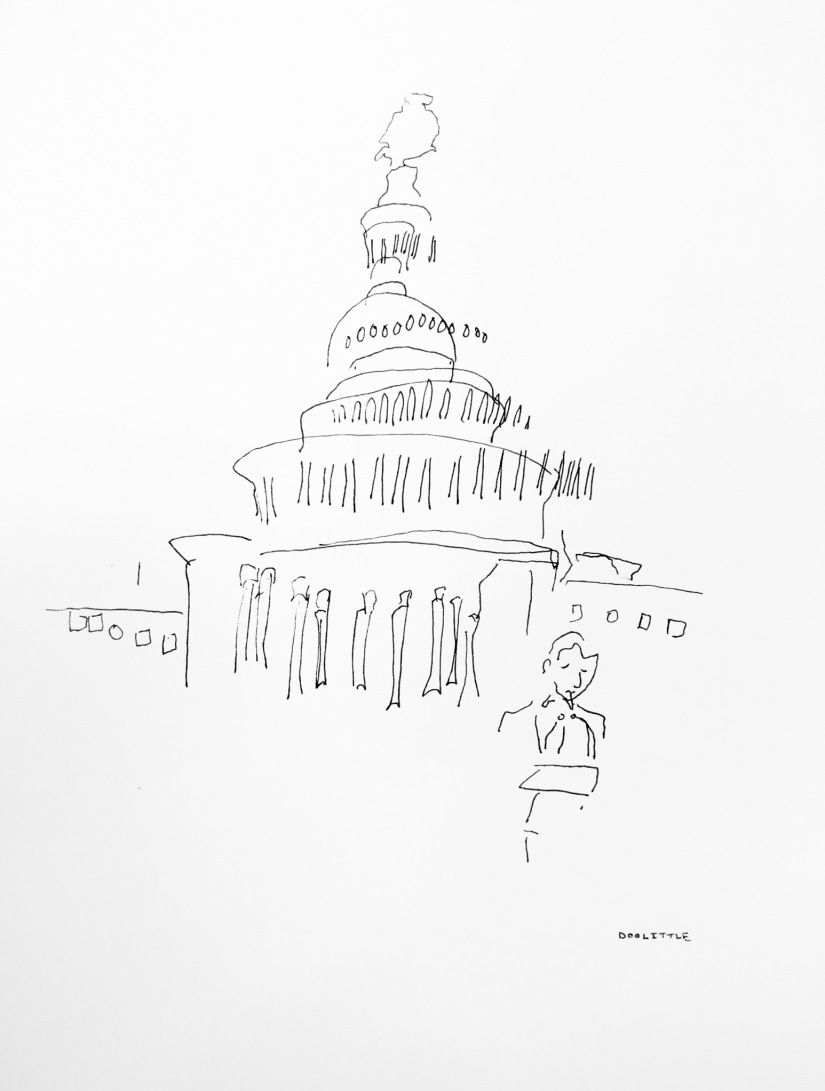 David Covington on Capitol Hill