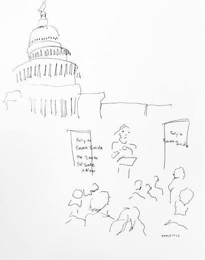 Colleen Creighton on Capitol Hill